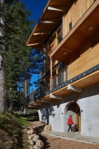 现代美式风格200平米别墅浪漫卧室进门入户花园效果图