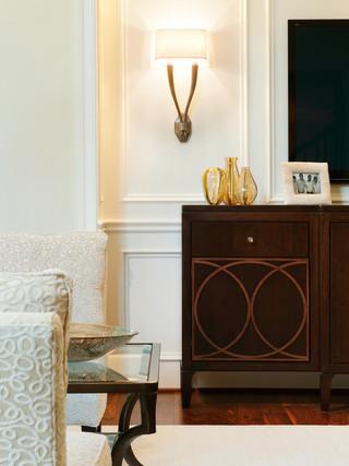 美式风格客厅2014年别墅简洁电视柜装饰效果图