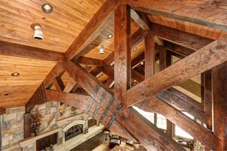 美式乡村风格300平别墅浪漫卧室雷士吸顶灯图片