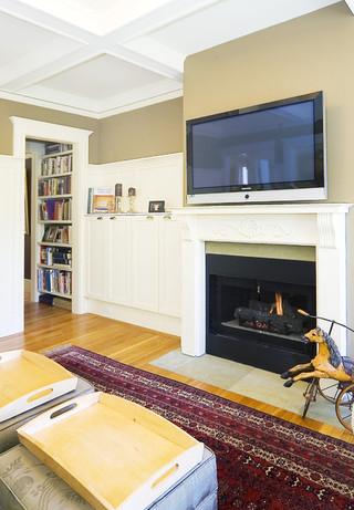 欧式风格家具三层平顶别墅大方简洁客厅电视柜设计图图片