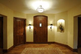 现代欧式风格一层半别墅欧式豪华2012家装玄关装修效果图