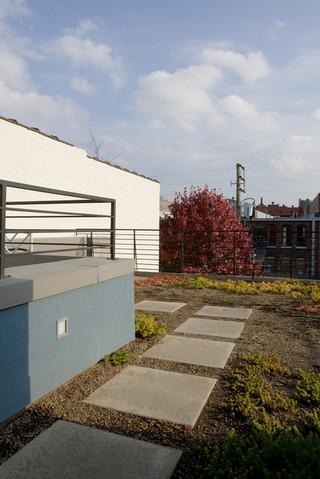 房间欧式风格一层半小别墅乐活楼顶花园装修效果图