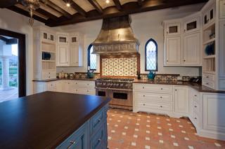 现代美式风格三层独栋别墅豪华客厅2014家装厨房设计图纸
