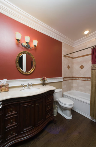 现代欧式风格一层半别墅豪华室内主卫装潢