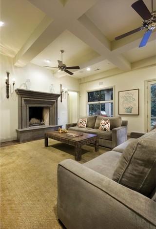 美式风格2013别墅实用卧室15平米客厅效果图