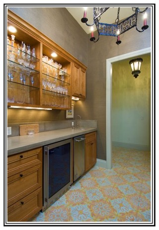 现代美式风格三层别墅及阳台实用4平方厨房装潢