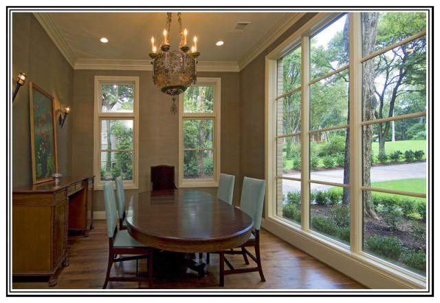 现代美式风格200平米别墅实用客厅厨房和餐厅装潢