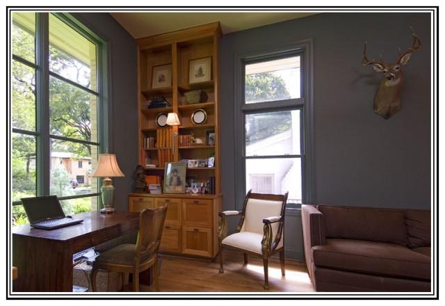 餐厅装修平面图 美式乡村风格单身公寓乐活客厅和餐厅的装修图片