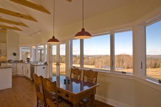 美式乡村风格卧室小型公寓乐活客厅与餐厅装修图片