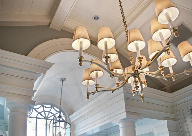 房间欧式风格一层半小别墅奢华飞利浦吸顶灯图片