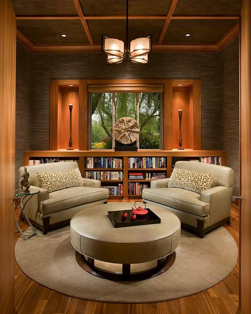 简约中式风格小公寓别墅豪华书房隔断设计图