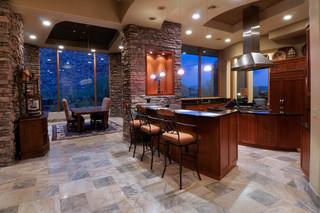地中海风格室内200平米别墅低调奢华2013家装厨房装修图片
