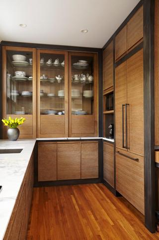 新古典风格卧室小型公寓稳重免漆板衣柜图片