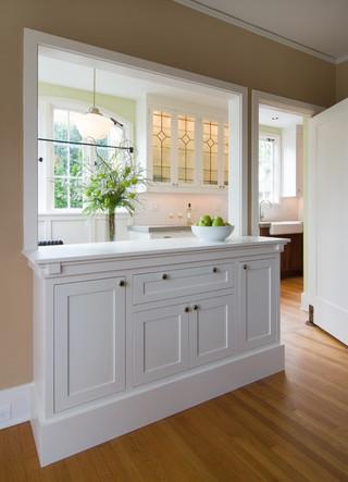 美式风格精装公寓现代简洁厨房在阳台的设计图