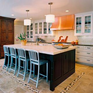 美式风格卧室小型公寓简单实用厨房餐厅装修