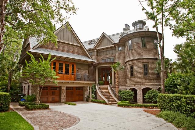 现代美式装潢一层半阳台实用风格客厅别墅花园茂名别墅区图片