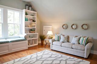 现代欧式风格三层平顶别墅梦幻名牌布艺沙发效果图
