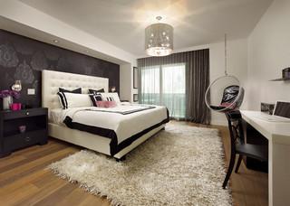 美式风格卧室单身公寓舒适10平米小卧室设计图