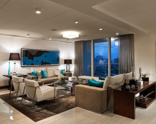 现代美式风格小户型公寓舒适2013简约客厅装修效果图