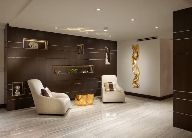 现代美式风格老年公寓舒适卧室书房装修效果图