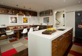 美式风格客厅小型公寓现代简洁厨房收纳架效果图