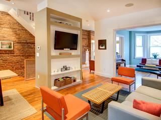 美式风格小公寓艺术 客厅改造
