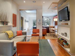 现代美式风格小公寓艺术2012客厅吊顶装修图片