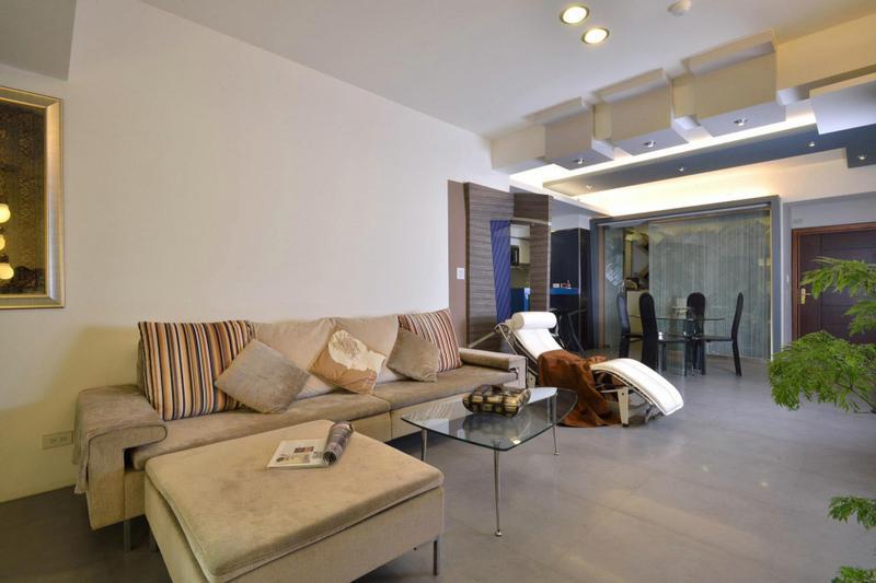 台湾现代简约大面积公寓