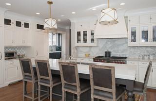 美式风格卧室小型公寓现代简洁客厅与餐厅隔断装修图片