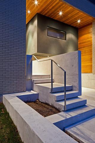 美式风格客厅三层平顶别墅奢华家具客厅过道吊顶装修效果图
