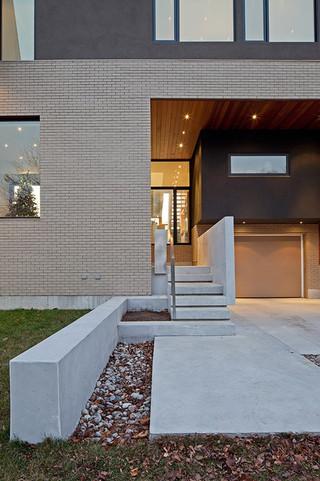 现代美式风格3层别墅低调奢华室外楼梯效果图