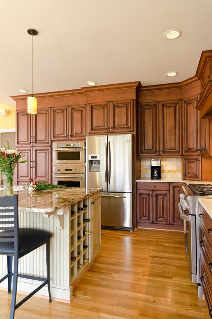 现代欧式风格一层别墅及小清新餐厅厨房隔断装潢