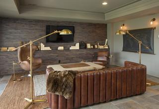 现代简约风格餐厅复式公寓乐活家庭影音室装修图片
