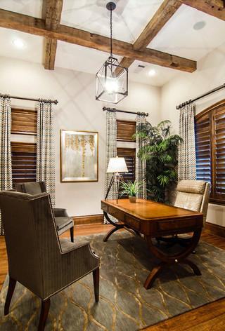 美式风格三层半别墅欧式奢华书房卧室一体装修效果图