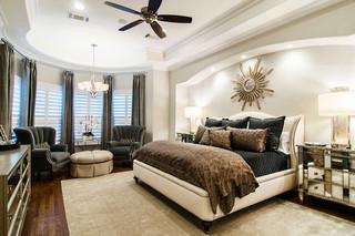 美式风格三层平顶别墅奢华2012最新卧室装修效果图