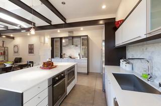 现代美式风格精装公寓另类卧室2012厨房装修效果图