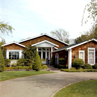新古典风格三层别墅稳重家庭庭院效果图
