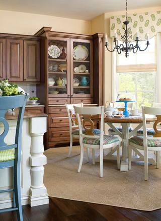 房间欧式风格2013年别墅古典中式厨房餐厅隔断装修图片