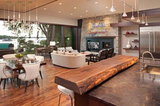 房间欧式风格三层平顶别墅卧室温馨三人沙发图片