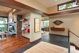 欧式风格三层平顶别墅温馨装饰室内装修楼梯设计图