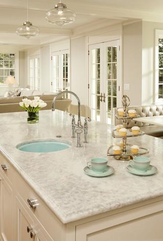 现代欧式风格300平别墅舒适大理石餐桌图片