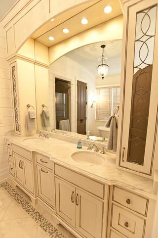 现代简约风格客厅300平别墅简洁品牌浴室柜效果图