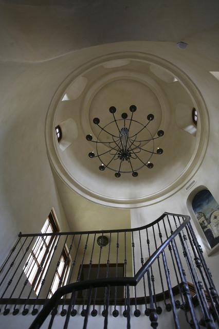 地中海风格家具三层小别墅奢华家具住宅楼梯设计图设计