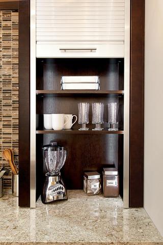 现代简约风格餐厅单身公寓厨房温馨装饰设计图