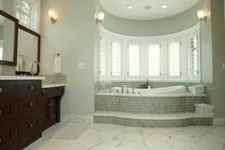 地中海风格卧室三层别墅及浪漫卧室品牌浴室柜效果图