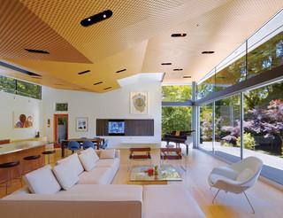 现代简约风格小型公寓温馨装饰2013客厅窗帘效果图