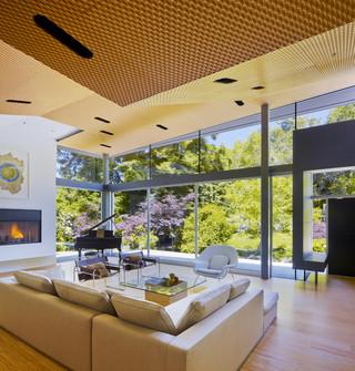 现代简约风格餐厅复式公寓温馨装饰单人沙发床图片