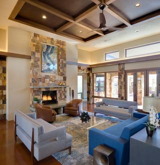 地中海风格客厅三层别墅唯美宜家沙发床图片