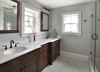 现代欧式风格复式公寓客厅古典品牌浴室柜效果图