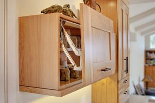 现代简约风格厨房老年公寓小清新厨房推拉门装修效果图